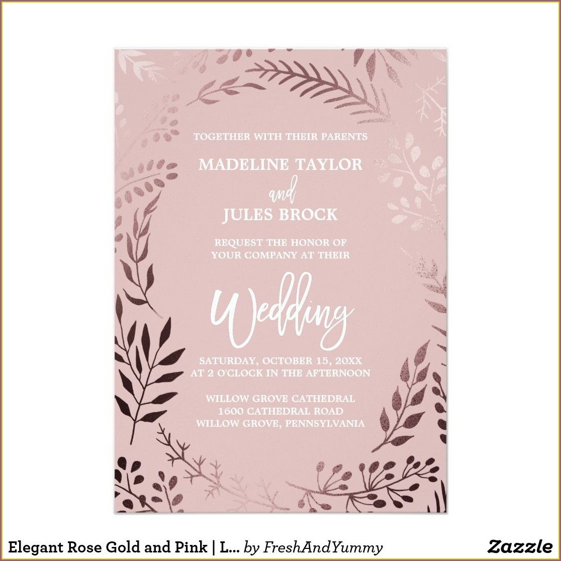 Elegant Rose Gold Wedding Invitation Background