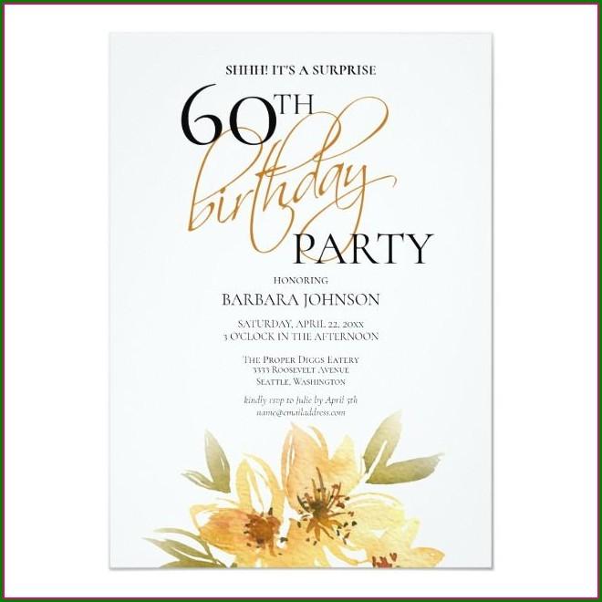 Elegant Surprise Birthday Invitations