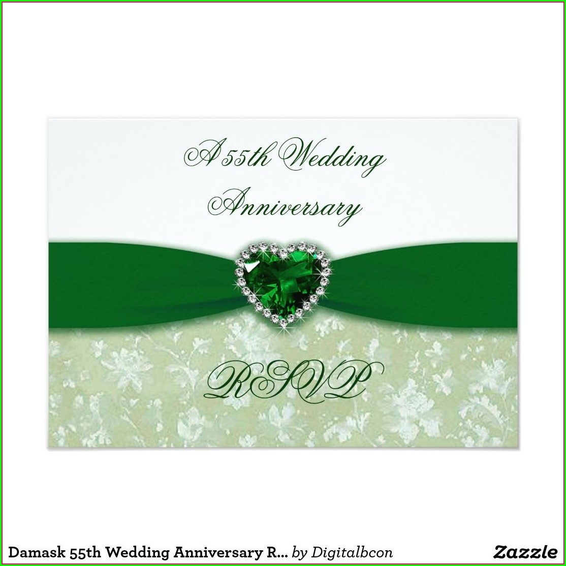 Emerald Wedding Anniversary Invitations