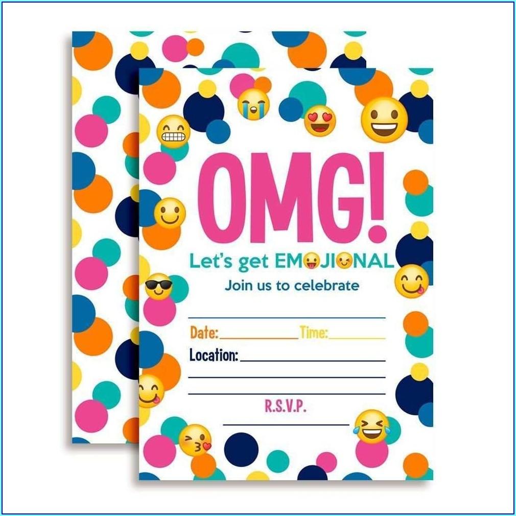 Emoji Birthday Invitation Template Free