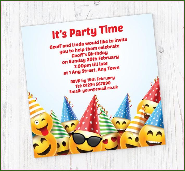 Emoji Birthday Invitations Free Online