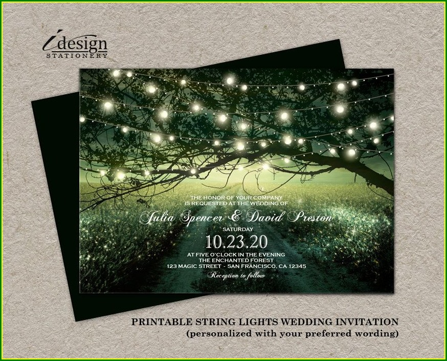 Enchanted Forest Invitation Template Free