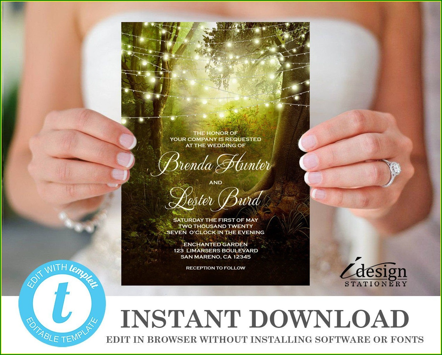 Enchanted Forest Invitation Template