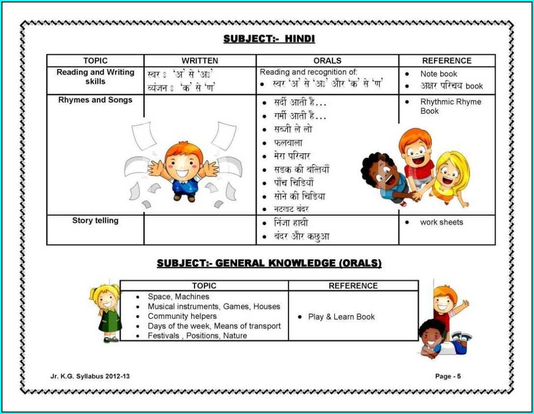 English Worksheets Jr Kg