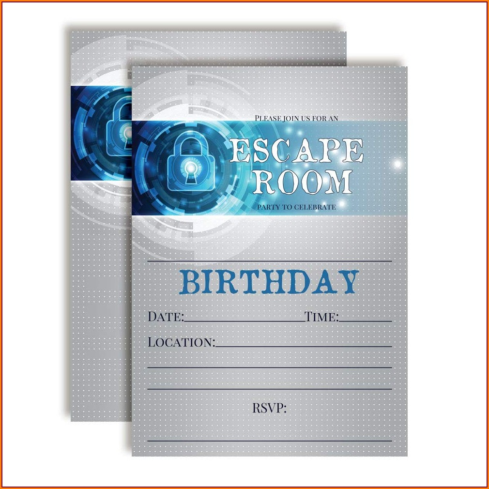 Escape Room Birthday Invitations