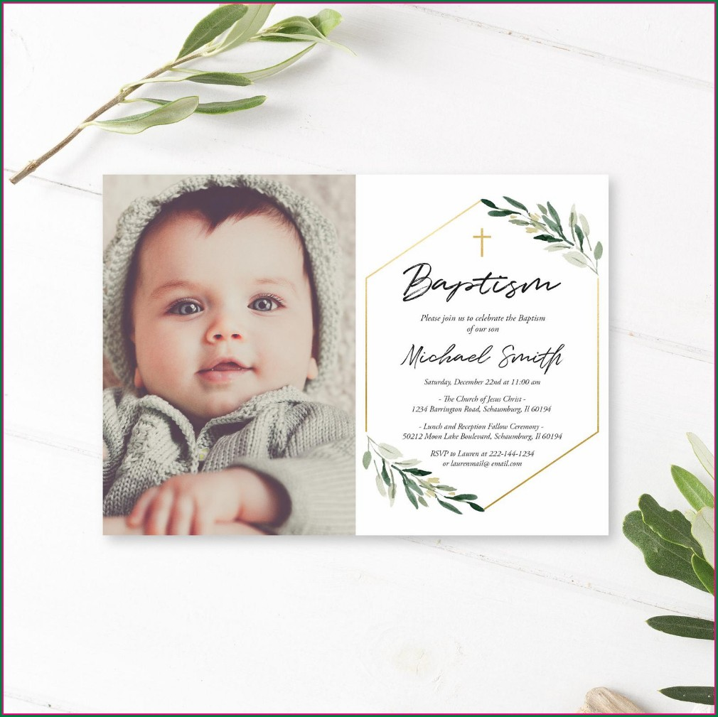 Etsy Baptism Invitations Boy