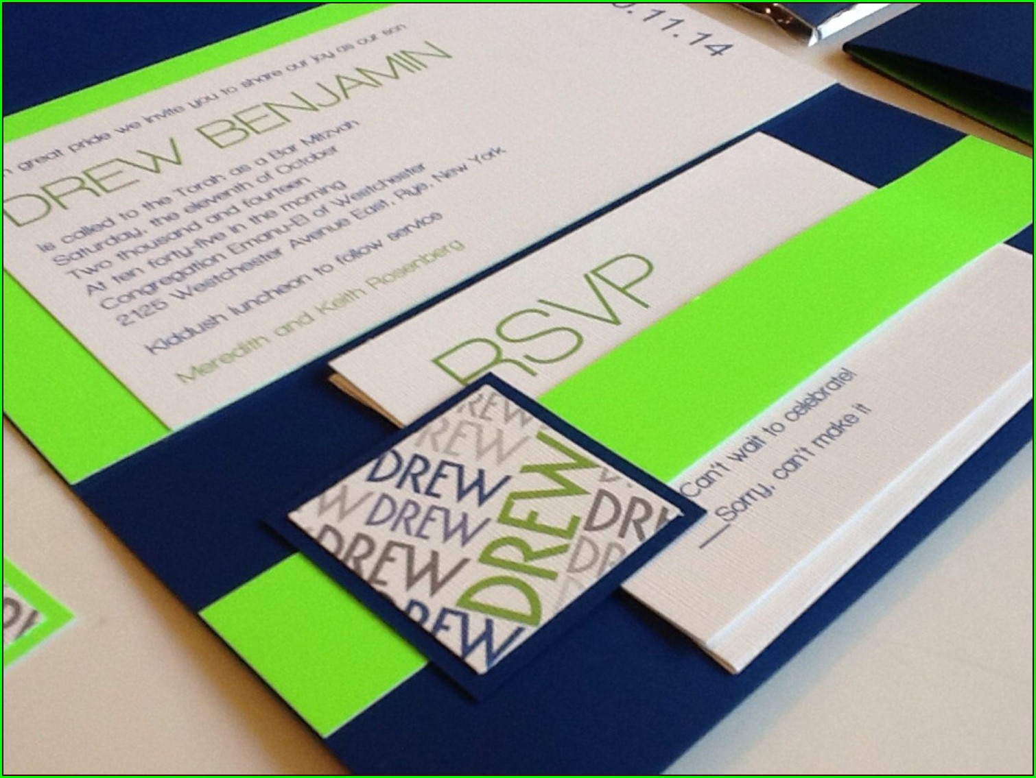 Etsy Bar Mitzvah Invitations