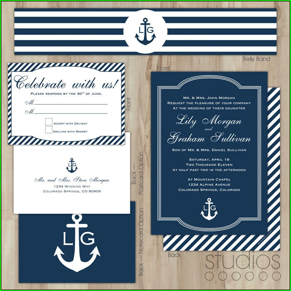 Etsy Nautical Wedding Invitations
