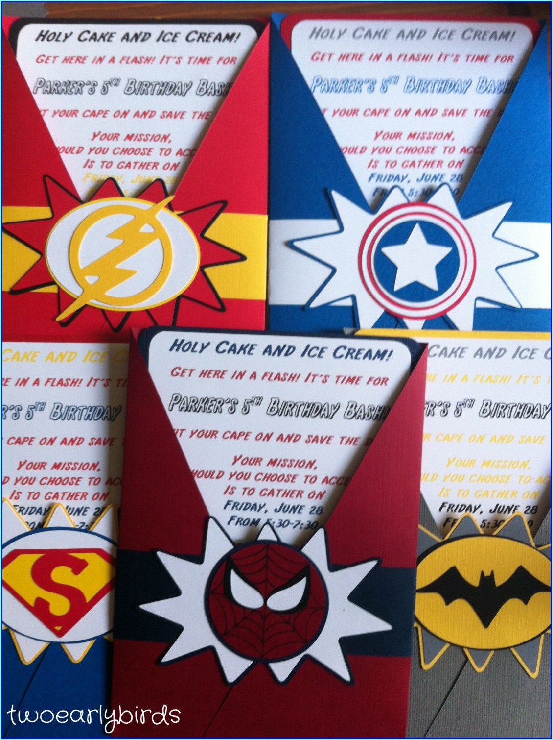 Etsy Superhero Birthday Invitations
