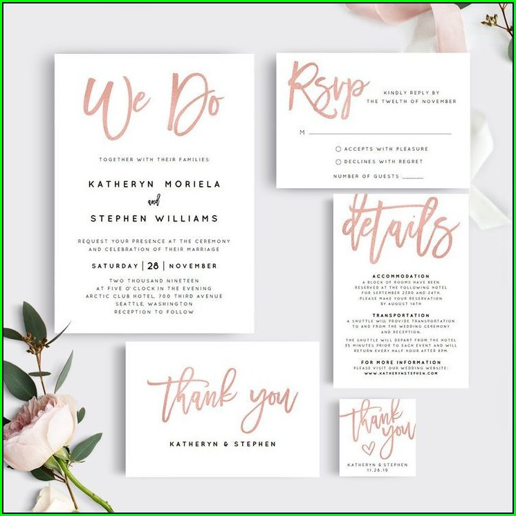 Etsy Wedding Invitation Templates