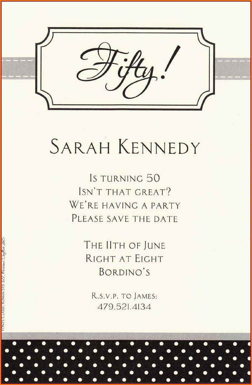Event Invitation Text Message Sample