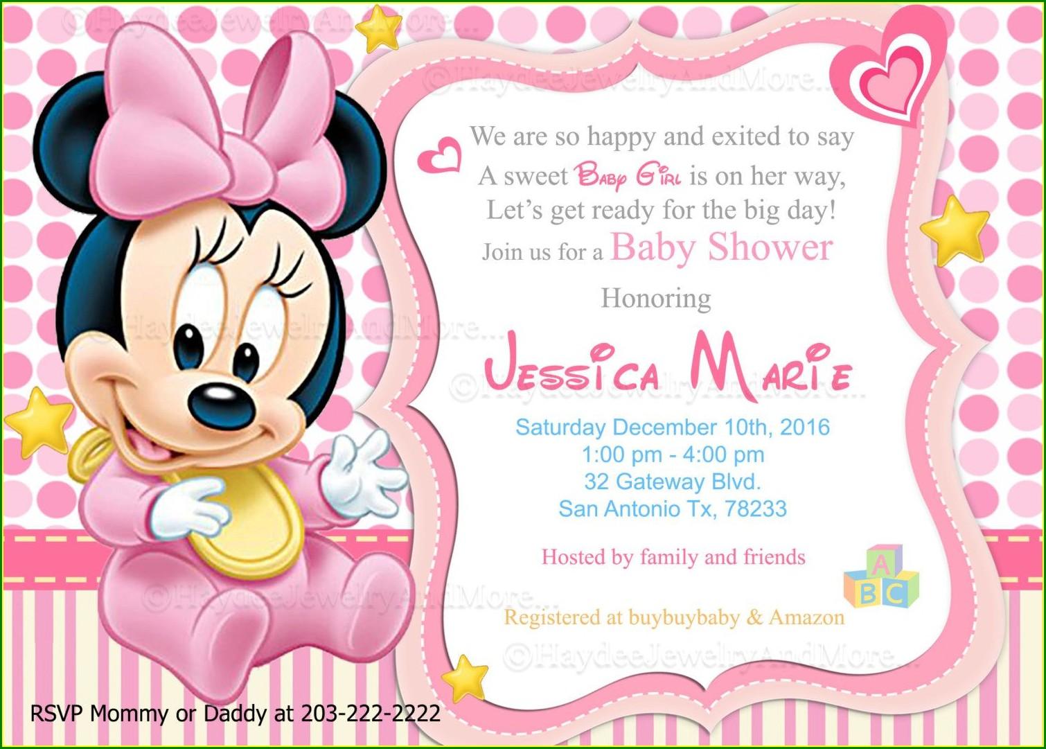 Evite Minnie Mouse Invitations