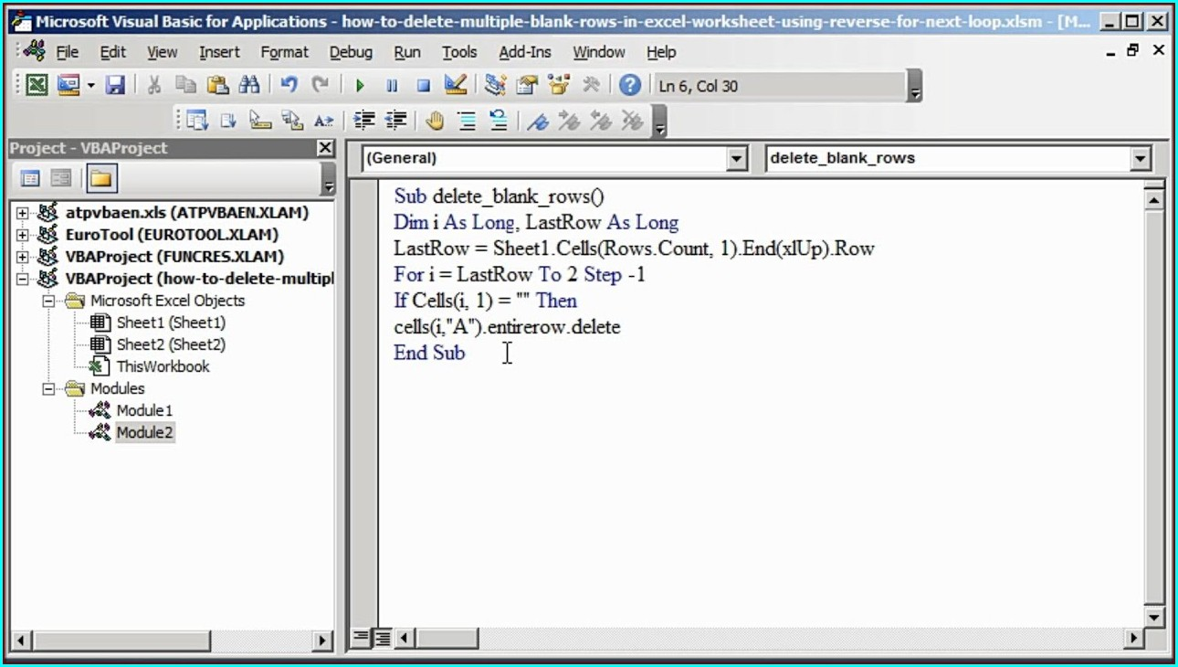 Excel Vba Delete Blank Sheets