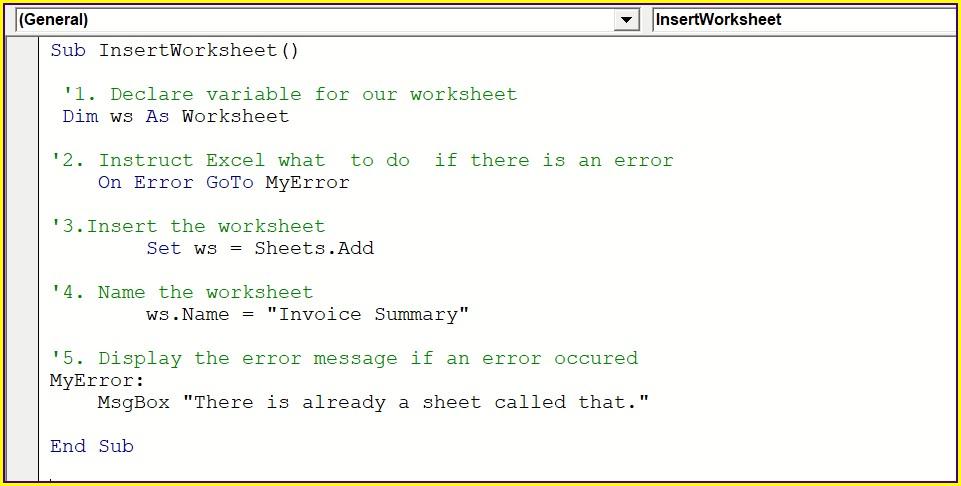 Excel Vba Msgbox Worksheet Name
