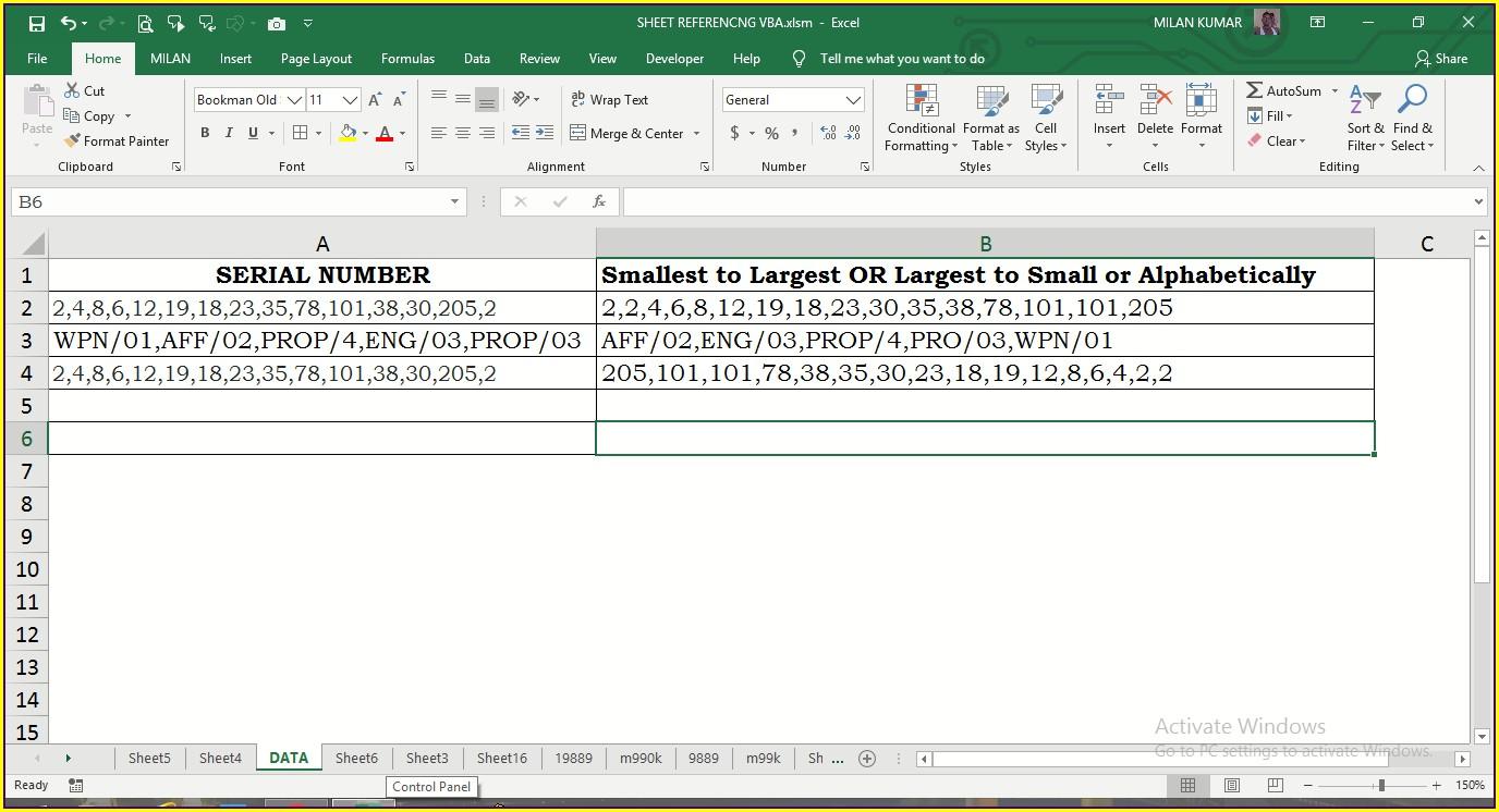 Excel Vba Sort Strings Alphabetically