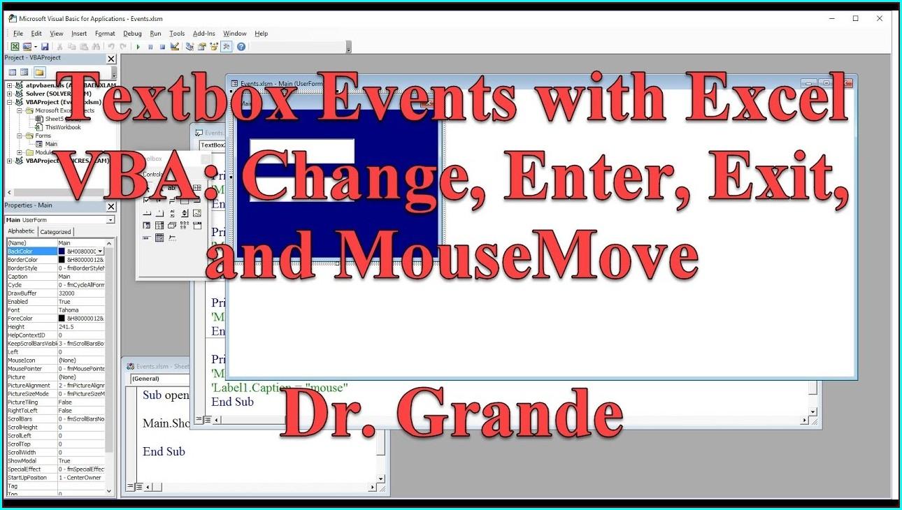 Excel Vba Worksheet Mousemove Event