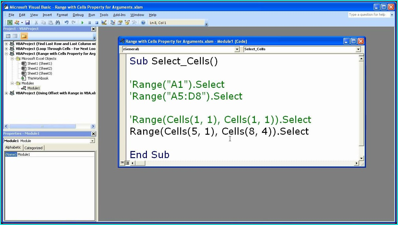 Excel Vba Worksheet Range Select