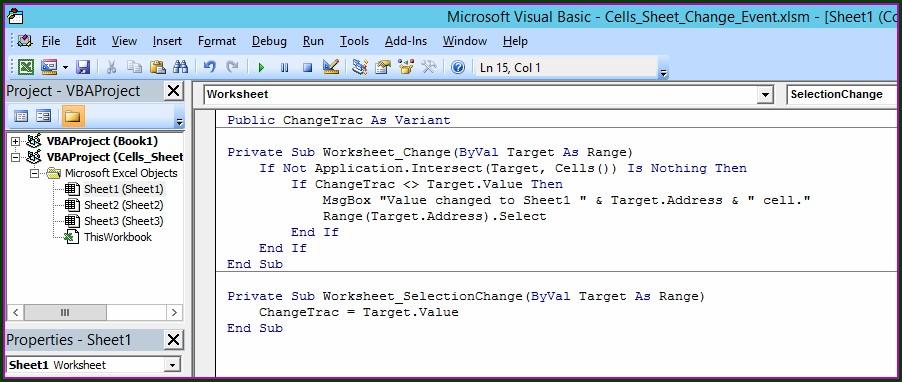 Excel Vba Worksheet Change Previous Value
