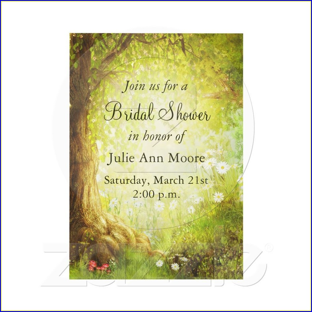 Fairytale Enchanted Forest Wedding Invitations
