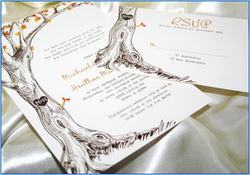 Fall Wedding Invitations Templates Free