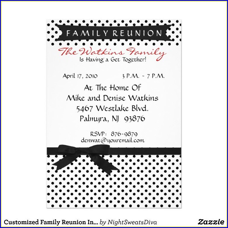 Family Gathering Family Reunion Invitation Wording