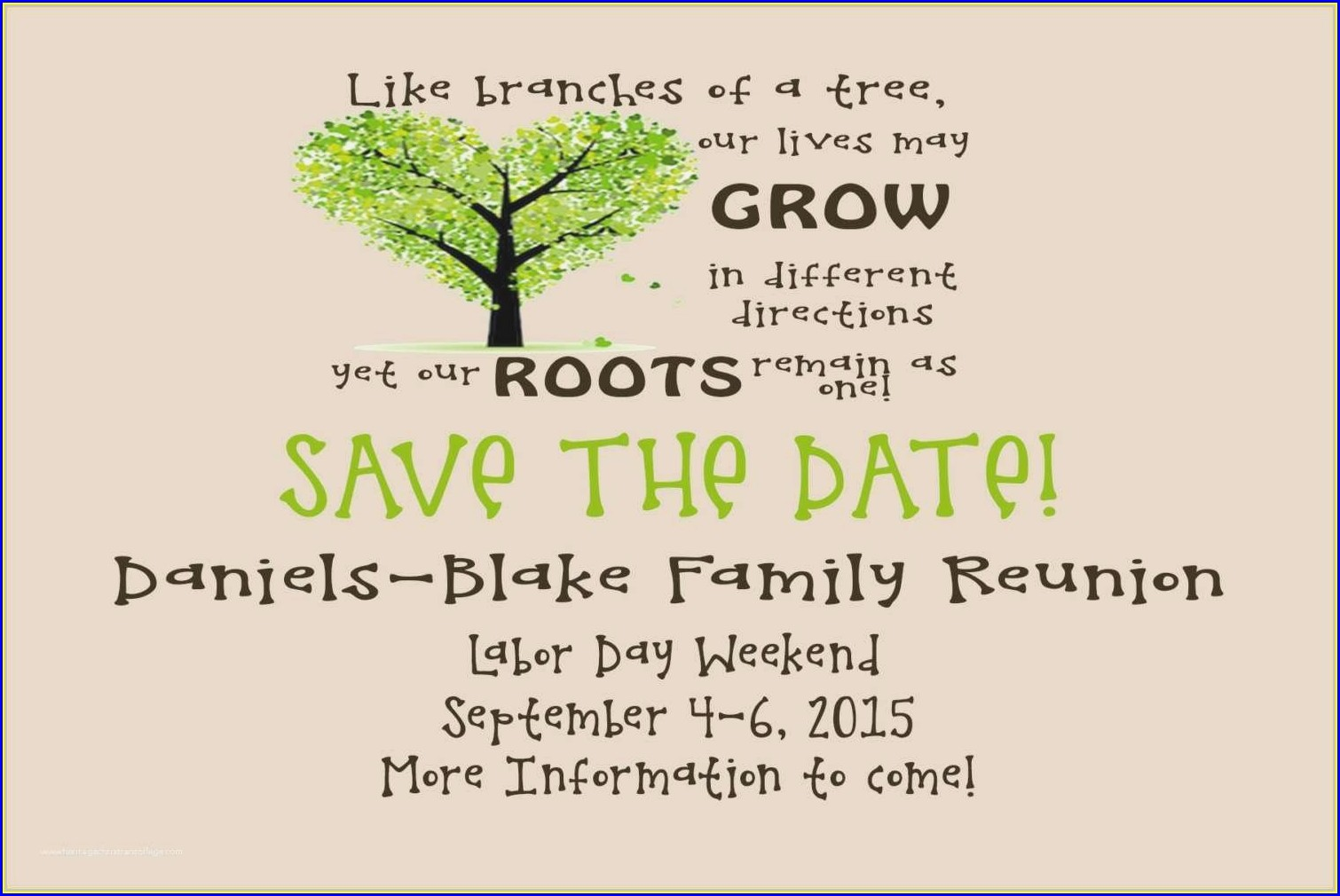 Family Reunion Invitation Wording Ideas