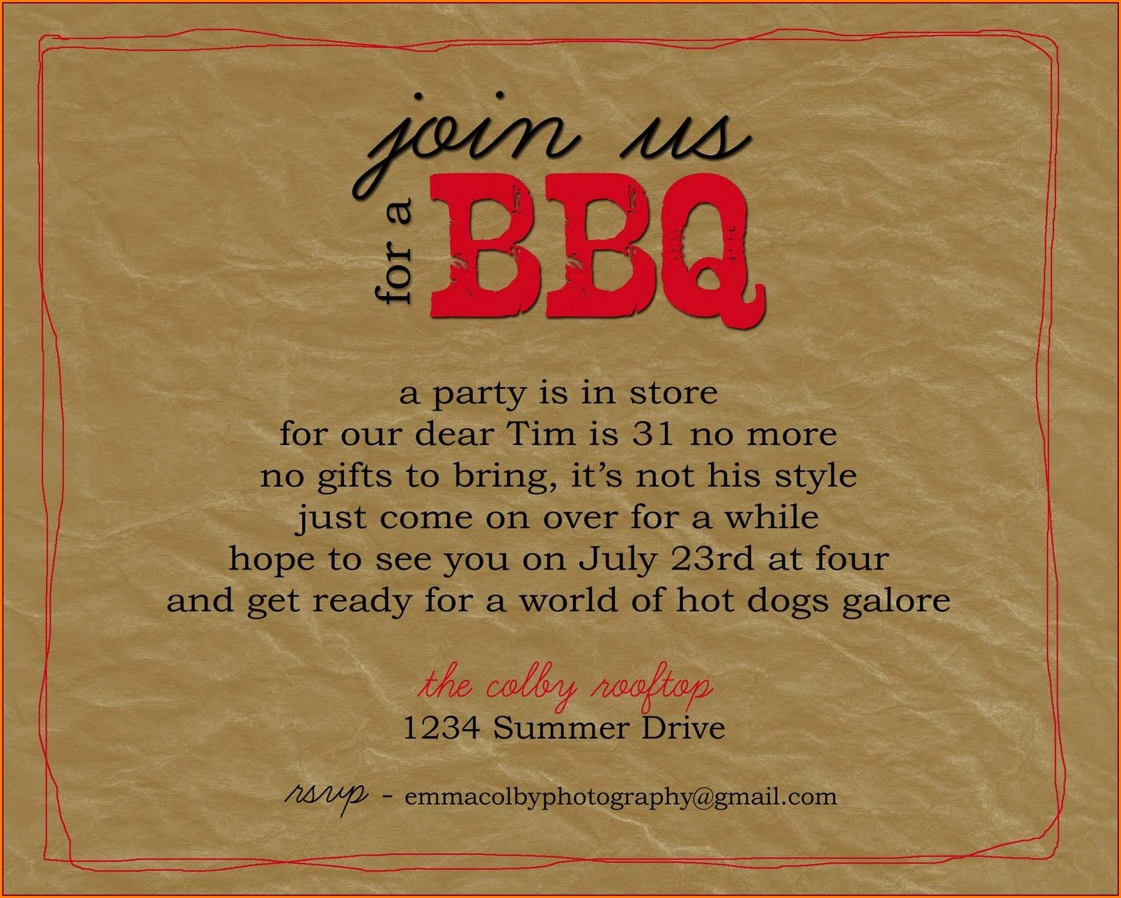 Farewell Bbq Invitation Wording