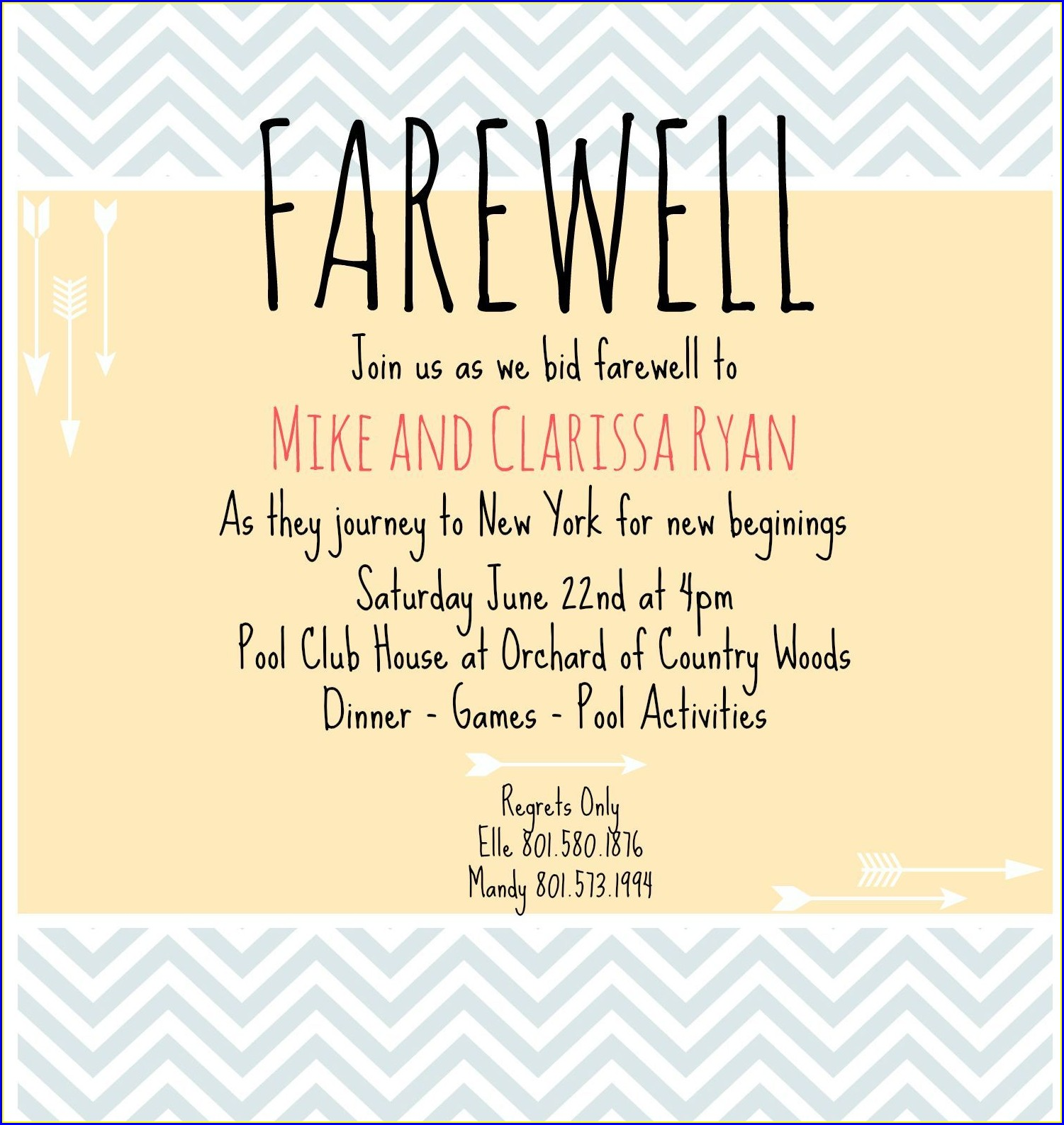 Farewell Lunch Email Invitation For Coworker