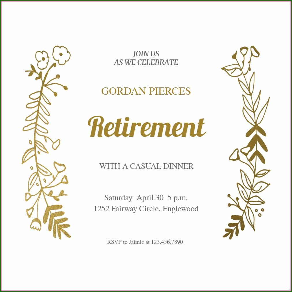 Father Retirement Invitation Message