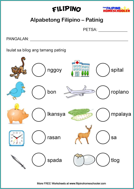 Filipino Worksheets For Grade 5 Pangngalan