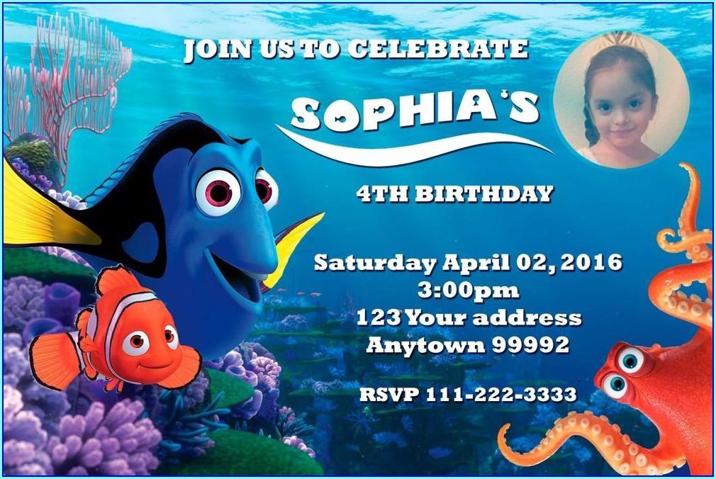 Finding Nemo Custom Invitations