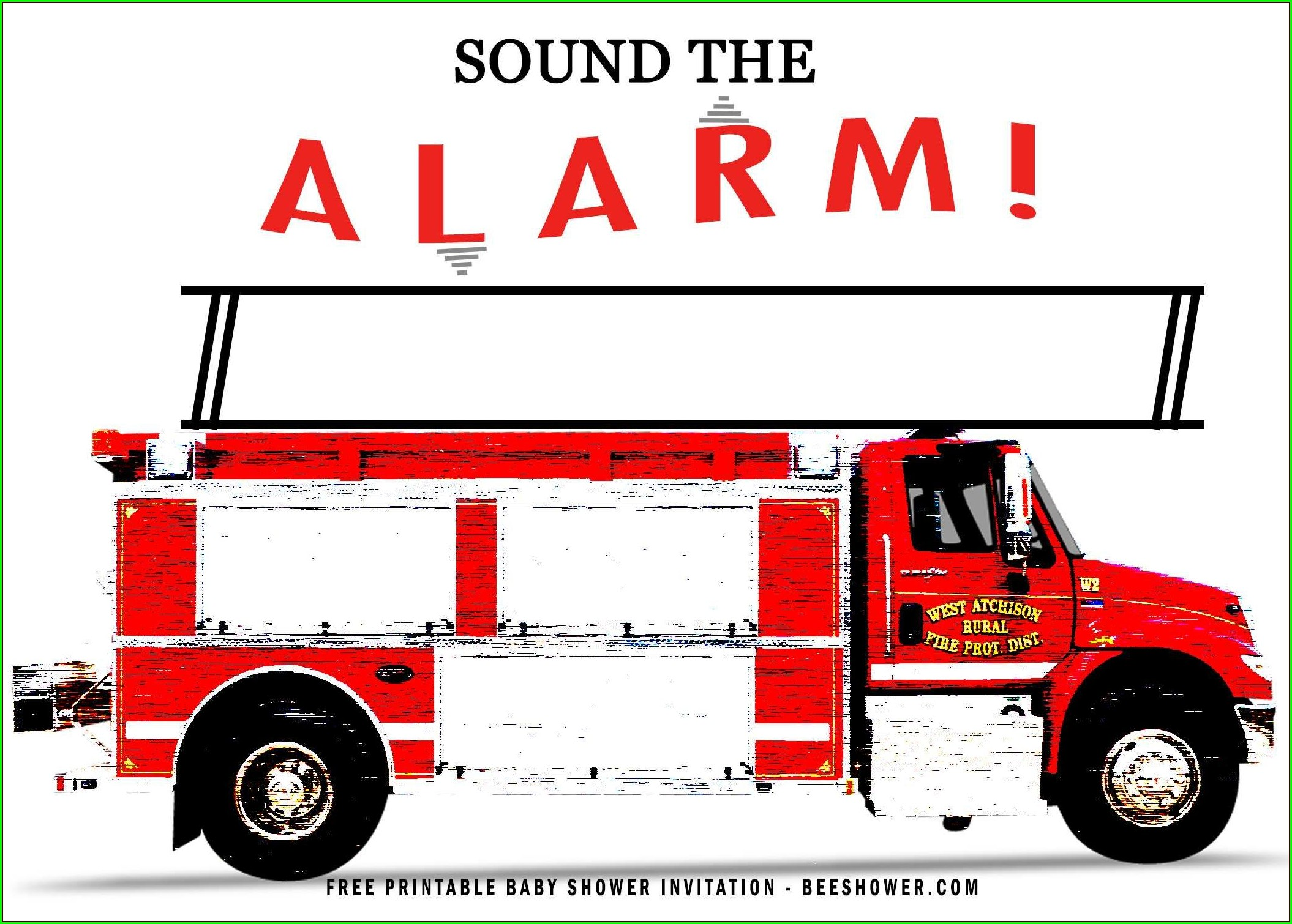 Fire Truck Invitation Template Free