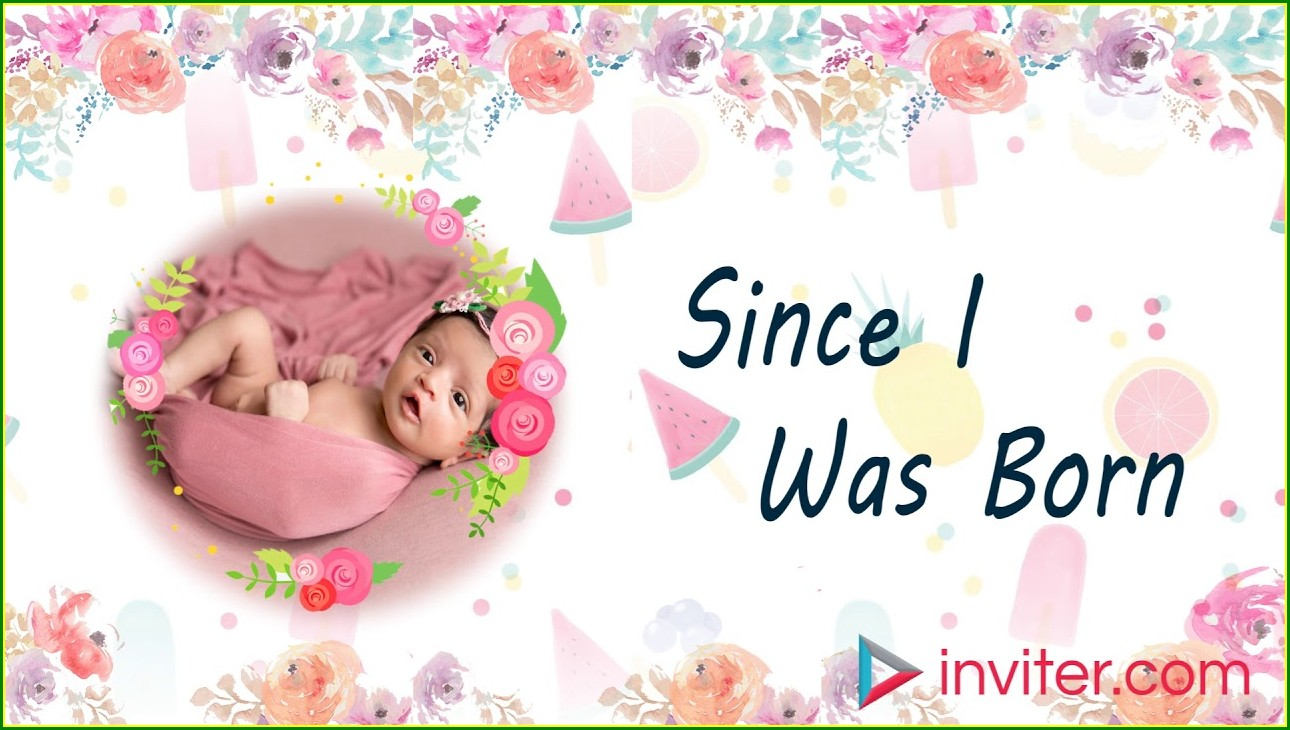 First Birthday Email Invitations