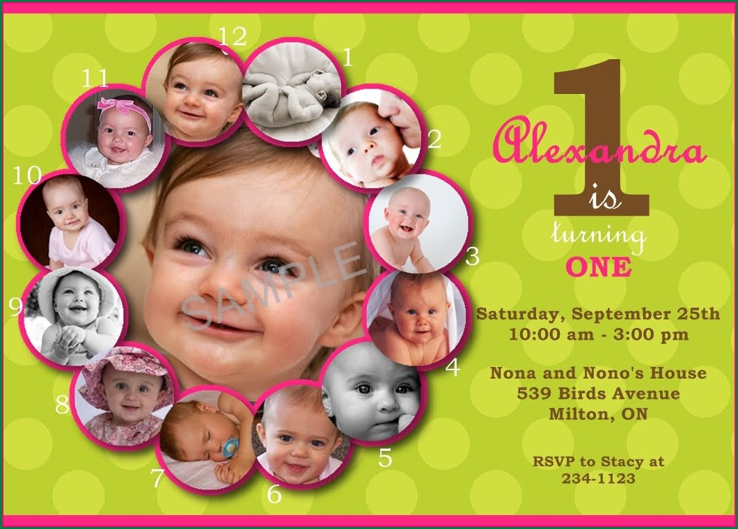First Birthday Invitation Templates Free Download Indian