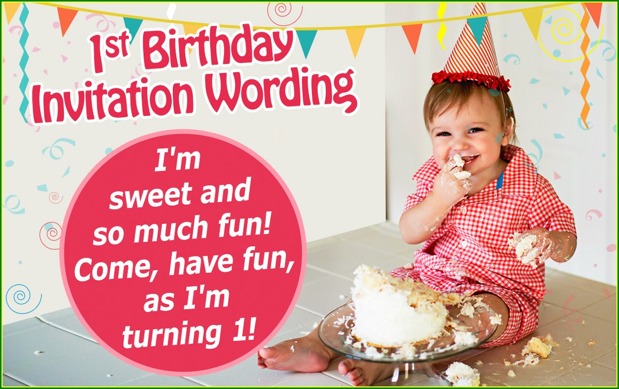 First Birthday Invitation Wording For Daughter