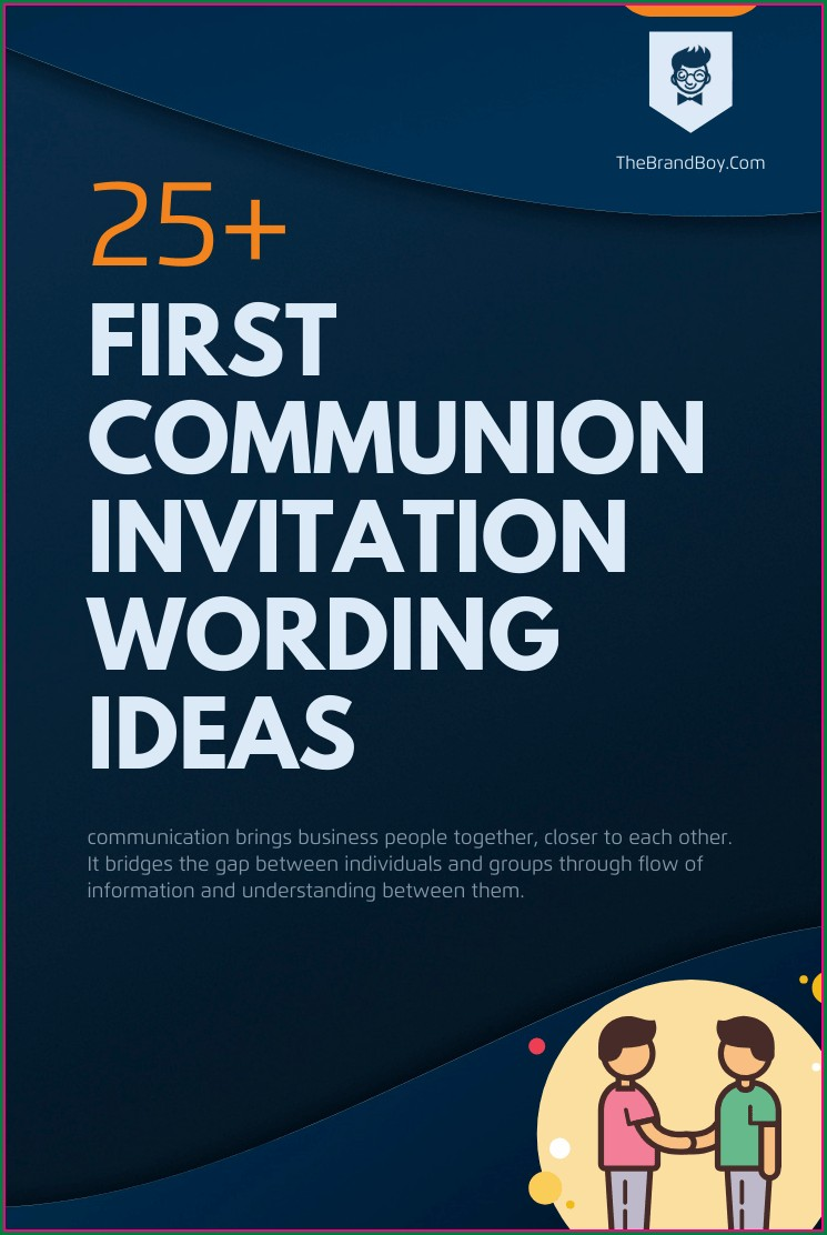 First Communion Invitation Wording Ideas