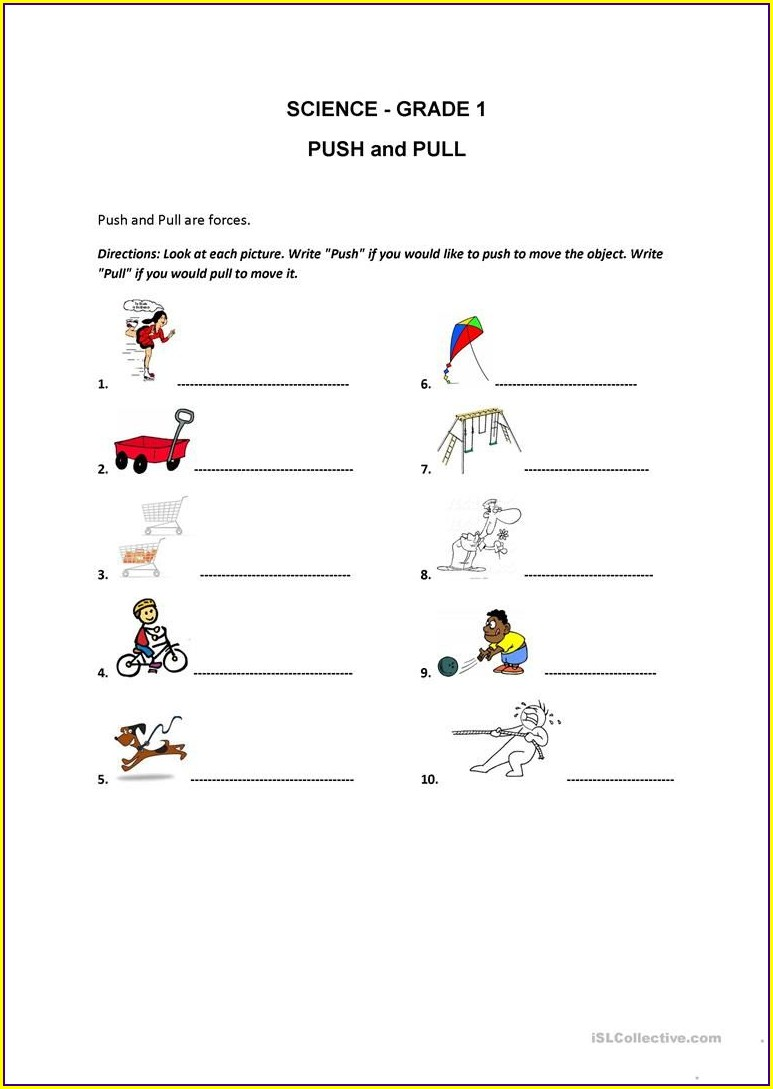 First Grade Evs Worksheets For Grade 1