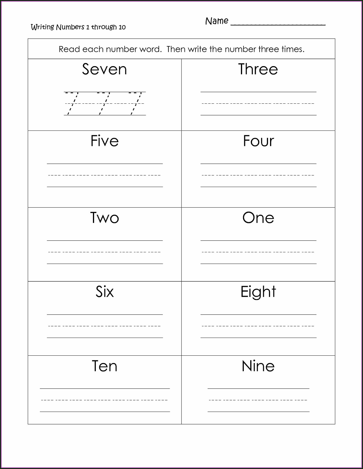 First Grade Writing Worksheet For Grade 1