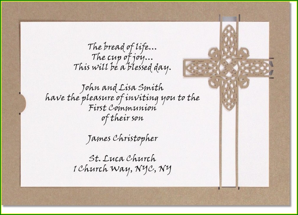 First Holy Communion Blank Invitations
