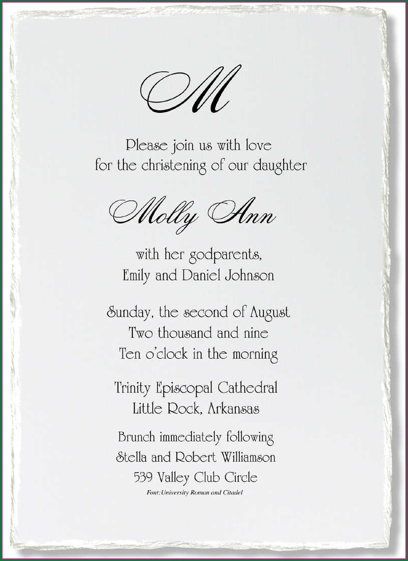 First Holy Communion Invitation Wording