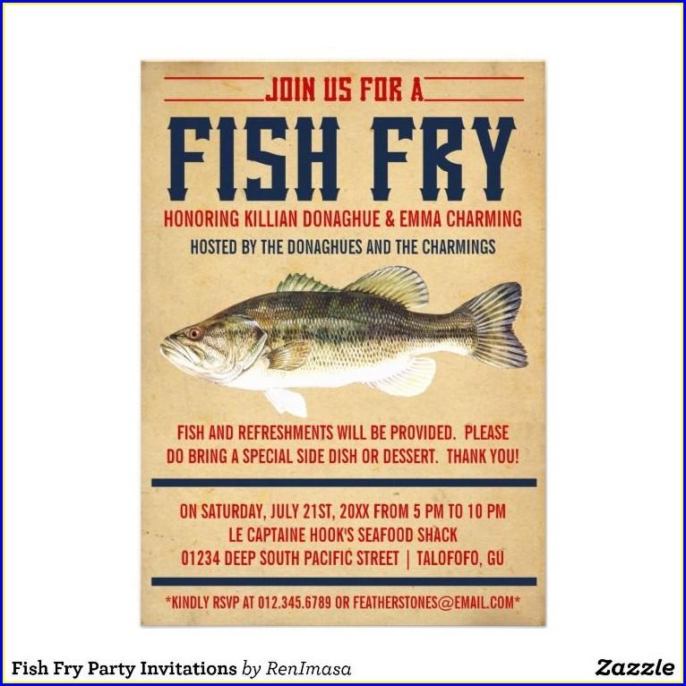 Fish Fry Birthday Invitations