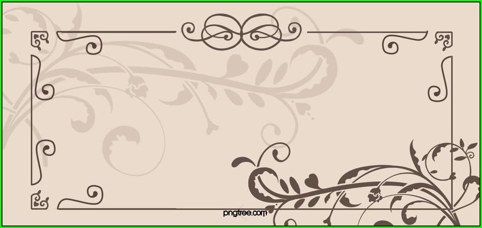 Floral Background Image For Invitation Card