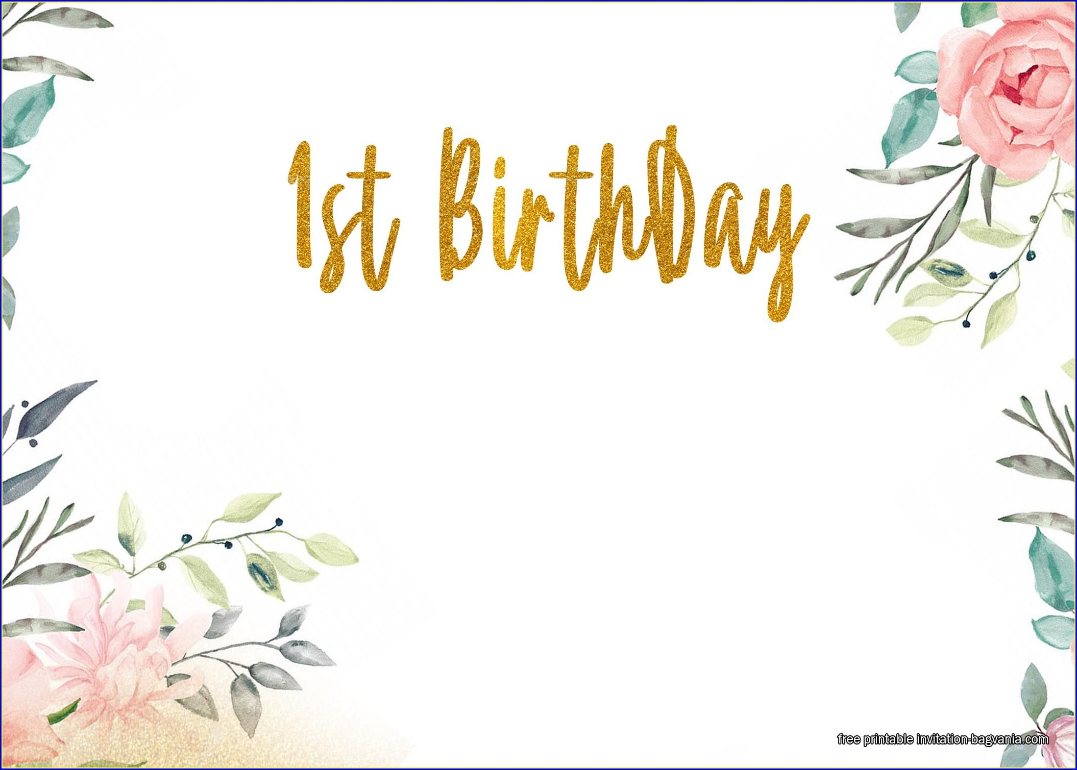 Floral Birthday Invitations Free Printable