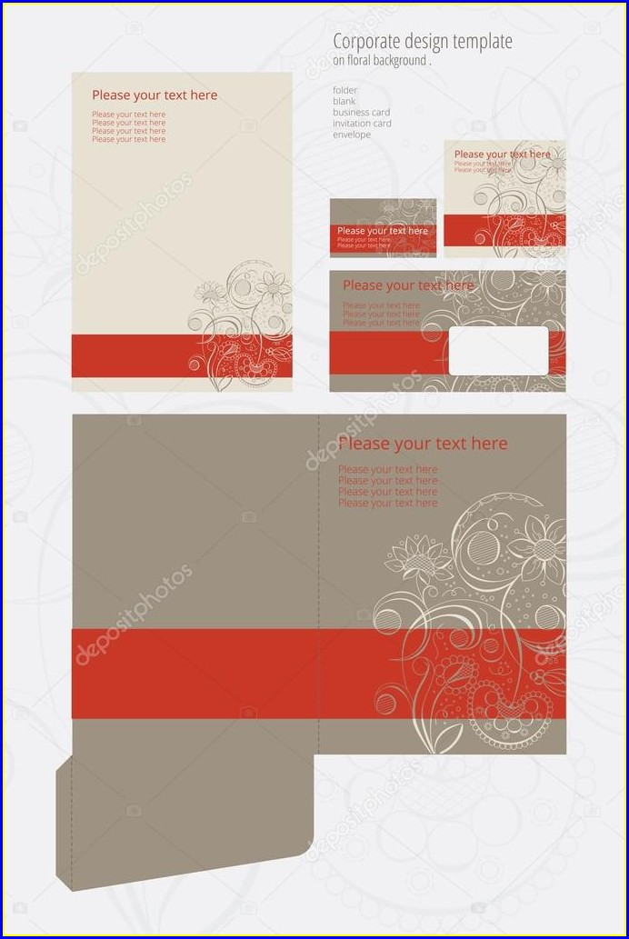 Floral Invitation Card Template Blank