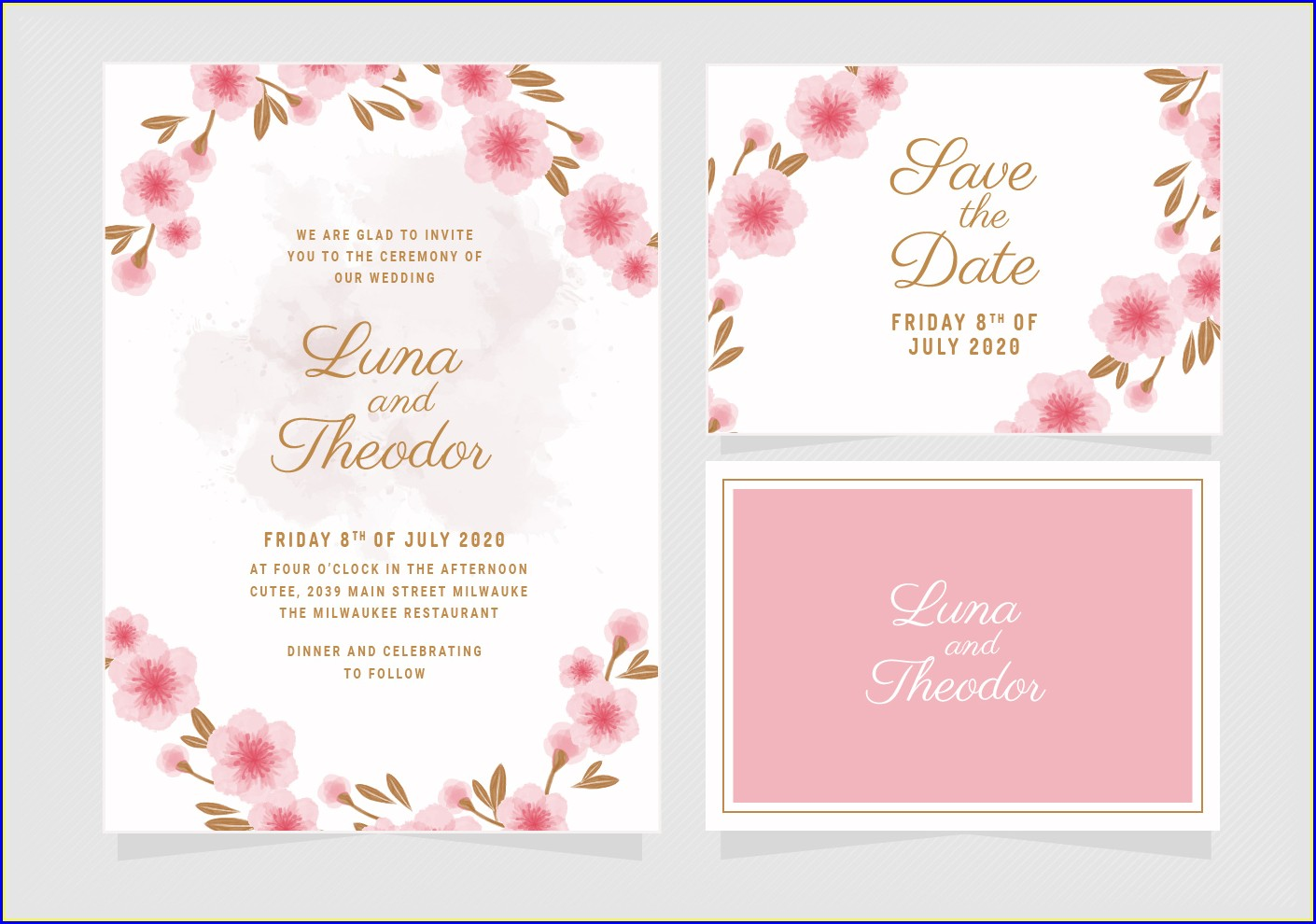 Floral Invitation Template Download Free