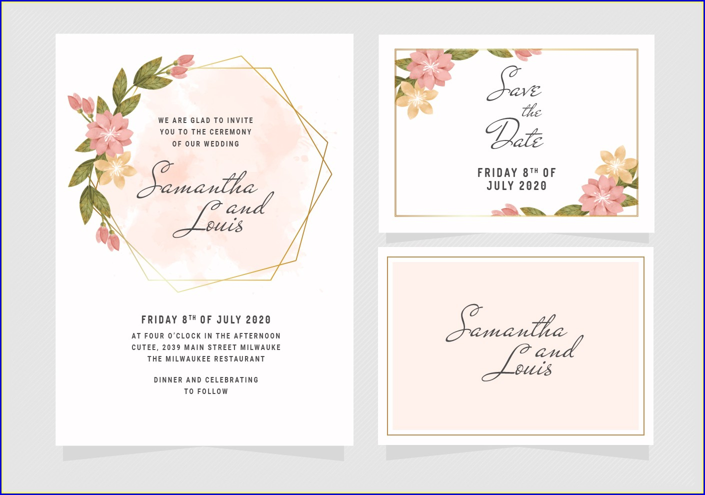 Floral Invitation Template Download