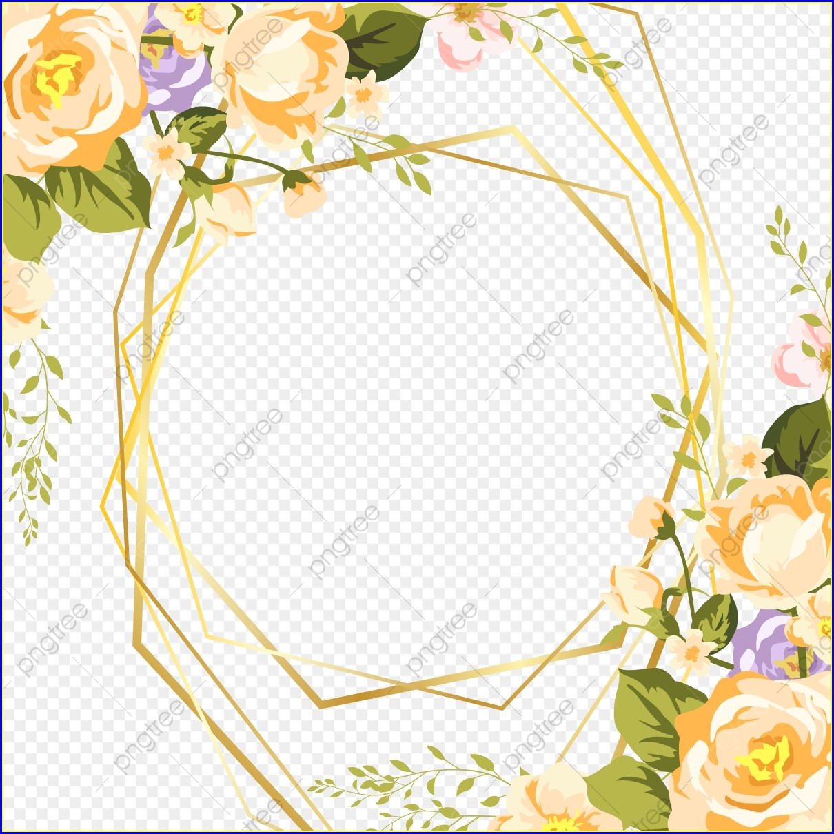 Floral Invitation Template Png