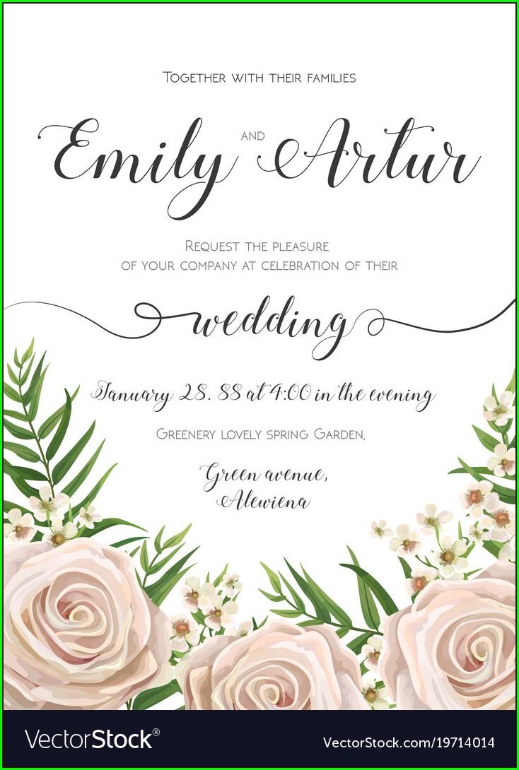 Floral Wedding Invitation Card Design