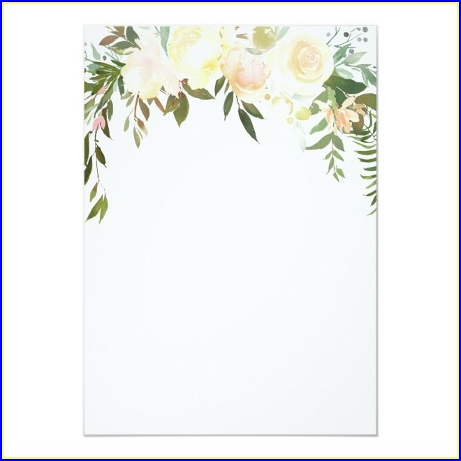 Flower Blank Floral Invitation Template