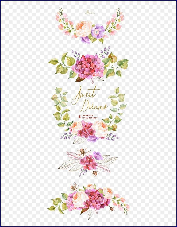 Flower Wedding Invitation Clip Art
